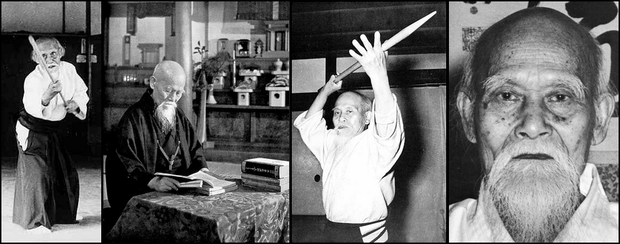 O sensei Morihei Ueshiba, le fondateur de l'aïkido